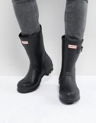 Hunter Original Short Wellies In Black - Black