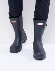 Hunter Original Short Wellies In Blue - Black