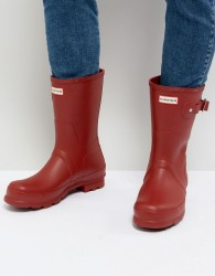 Hunter Original Short Wellies In Red - Red