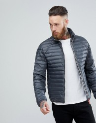 Hunter Padded Mid Layer Jacket in Grey - Grey