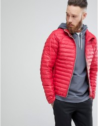 Hunter Padded Mid Layer Jacket in Red - Red