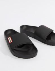 Hunter Sliders In Black - Black