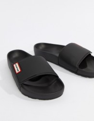 Hunter Sliders In Black - Black