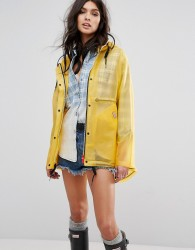 Hunter Womens Original Festival Raincoat - Yellow
