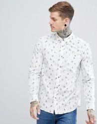 Hymn Beach Print Shirt - Beige