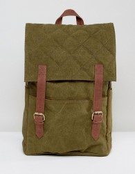 Hymn Double Strap Quilted Backpack - Green