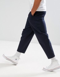 Hymn Narrow Pleat Trousers - Navy