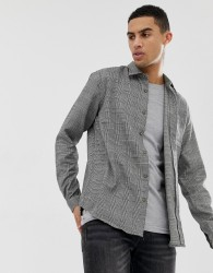 Hymn Prince Of Wales Checked Brushed Shirt - Black