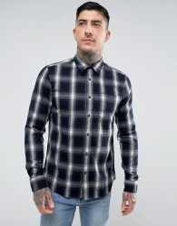 Hymn Spider Shadow Check Shirt - Navy
