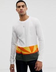 Hymn Sunset Colour Block Long Sleeve T-Shirt - Navy