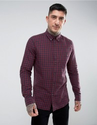 Hymn Vaynor Brushed Check Shirt - Red
