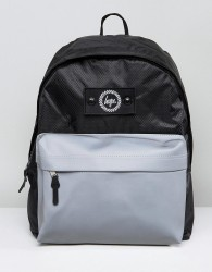 Hype Backpack In Black With Reflective Pocket - Black