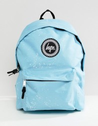 Hype backpack in blue speckle print - Blue