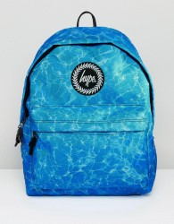 Hype Backpack In Blue Water Print - Blue