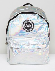 Hype Backpack In Silver Holographic - Silver