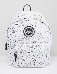 Hype Backpack In White With Speckle - White