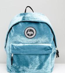 Hype Exclusive Blue Velvet Backpack - Blue