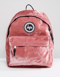Hype Exclusive Dusky Pink Velvet Backpack - Pink