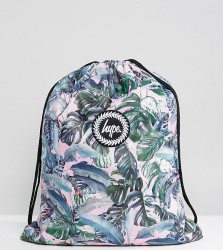 Hype Exclusive Pastel Garden Palm Print Drawstring Backpack - Multi