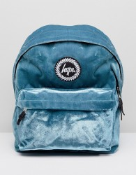 Hype Exclusive Teal Velvet Backpack - Green