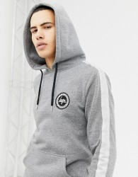 Hype hoodie in grey with side stripe - Grey