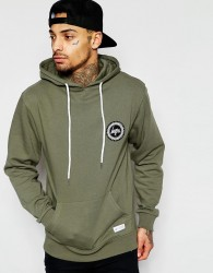 Hype Hoodie With Crest Logo - Green