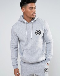 Hype Hoodie With Crest Logo - Grey