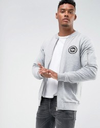 Hype Jersey Bomber Jacket In Grey - Grey