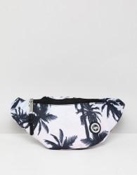Hype Logo Bum Bag In Palm Print - Blue