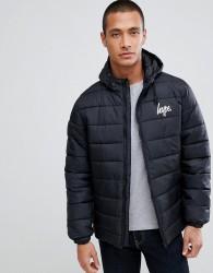 Hype logo puffer jacket - Black