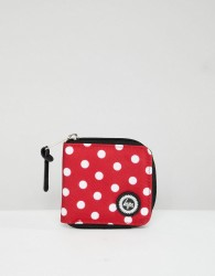 Hype Red Polka Dot Zip Purse - Red