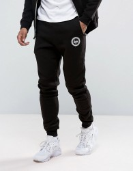 Hype Skinny Joggers With Crest Logo - Black