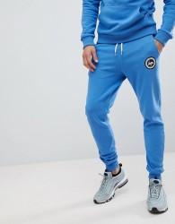 Hype Skinny Logo Joggers In Blue - Blue