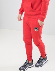 Hype Skinny Logo Joggers In Red - Red