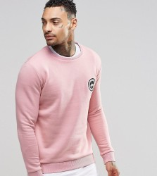 Hype Sweatshirt With Crest Logo - Pink