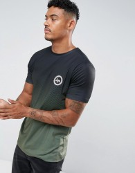 Hype T-Shirt In Black With Khaki Fade - Black