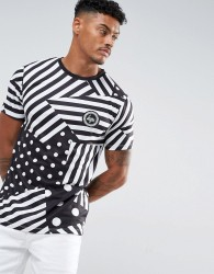 Hype T-Shirt In White With Stripes - White