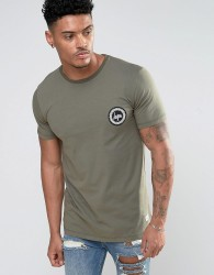 Hype T-Shirt With Crest Logo - Green