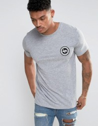 Hype T-Shirt With Crest Logo - Grey