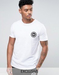 Hype T-Shirt With Crest Logo - White