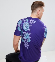 Hype T-Shirt With Ice Rose Print Exclusive to ASOS - Blue
