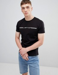 Hype t-shirt with race logo in black - Black