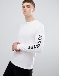 Hype t-shirt with script logo in white - White