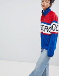 Iceberg Oversized Logo Zip Through Jacket - Multi