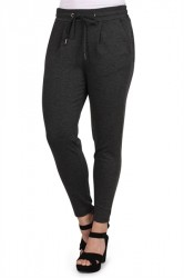 Ichi - Bukser - Kate Pants - Dark Grey Melange