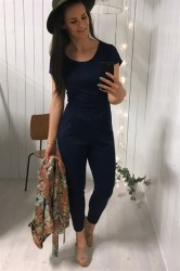 Ichi - Jumpsuit - Kate Jumpsuit - Navy