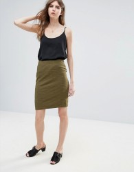 Ichi Textured Skirt - Green