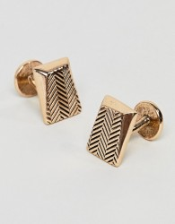 Icon Brand Antique Gold Faceted Cufflinks - Gold
