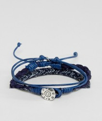 Icon Brand Blue Bracelets In Pack - Blue