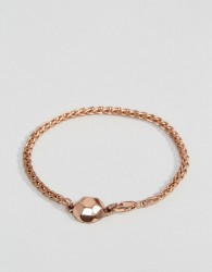 Icon Brand Chain Bracelet In Antique Gold - Gold